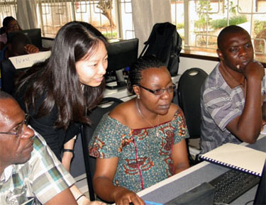 Individuals in a Nairobi training workshop on vulnerability mapping
