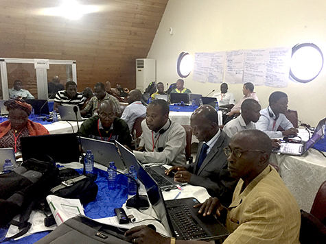 Participants in a climate information for adaptation planning workshop