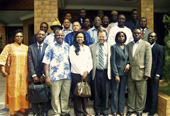 Attendees of seminar on the role of spatial data analysis in conflict early warning, organized by ECOWAS. Accra, Ghana.