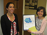CIESIN research associate Maria Muniz (left) and visiting Fullbright Scholar Diana Dogaru.